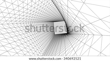 abstract architecture background #340692521