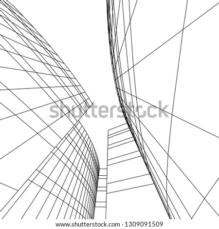 abstract architecture, building 3d  #1309091509