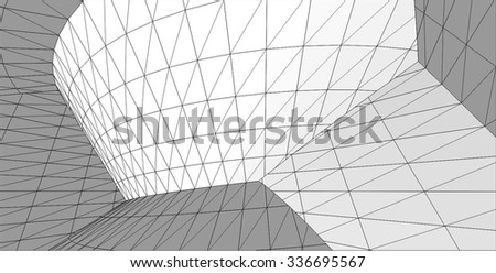 Abstract architecture building. Futuristic background #336695567