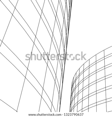 abstract architecture 3d #1323790637