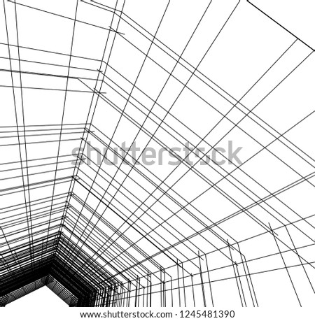 abstract architecture, geometric background #1245481390