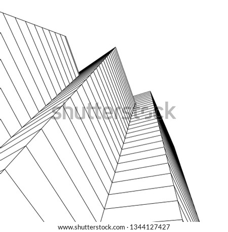 abstract architecture, vector background #1344127427
