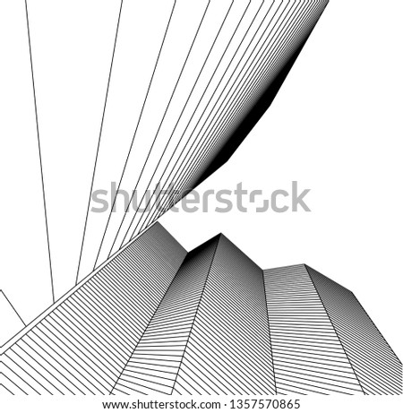 abstract architecture, vector background #1357570865