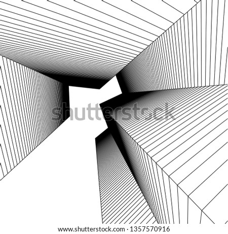 abstract architecture, vector background #1357570916