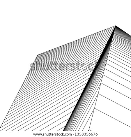 abstract architecture, vector background #1358356676