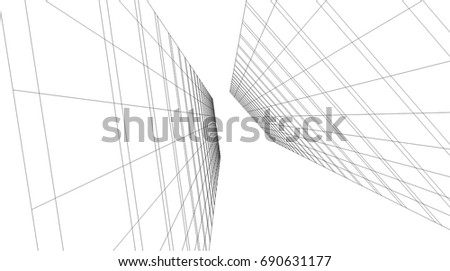 abstract architecture vector illustration #690631177
