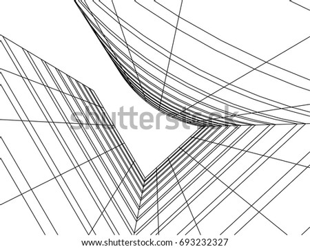 abstract architecture vector illustration #693232327