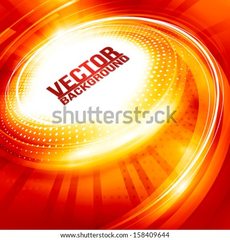 Abstract ardent background for hot party. Vector