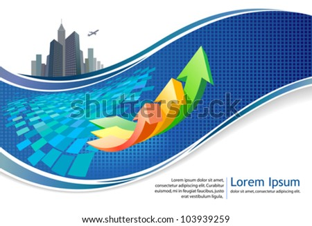 Abstract arrow brochure / banner background