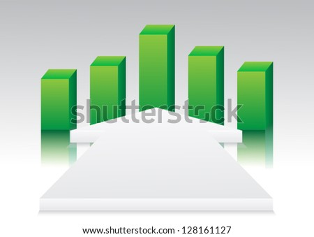 Abstract arrow business vector - stock vector