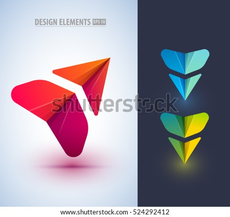 Abstract arrow icon design. Can be used as logo, corporate identity style, pointer, application icon.