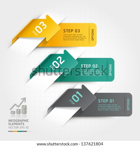 Abstract arrow infographics template. Vector illustration. can be used for workflow layout, diagram, number options, business step options, banner, web design