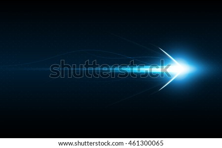 abstract arrow symbol forward speed technology innovation concept