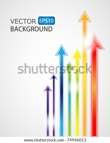 Abstract arrows background - vector