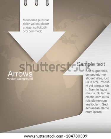abstract arrows on a map background