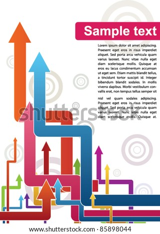 abstract arrows poster template