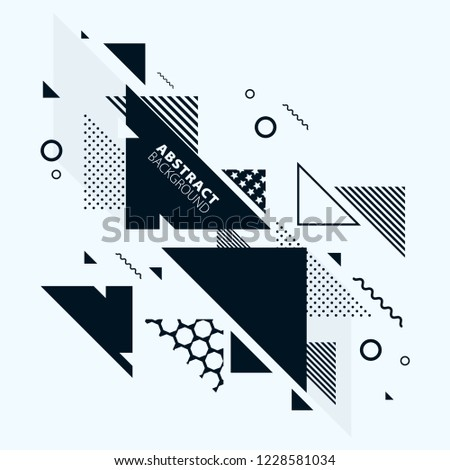 Abstract art background with geometric elements #1228581034