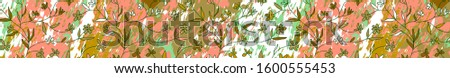abstract art floral full banner