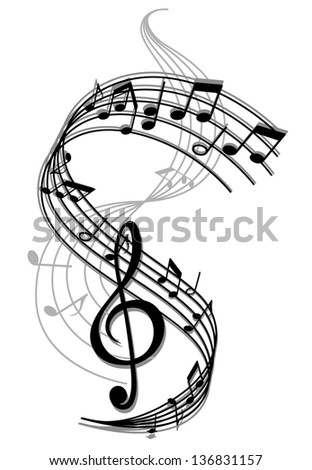 Abstract art music background with musical notes for entertainment design. Jpeg (bitmap) version also available in gallery