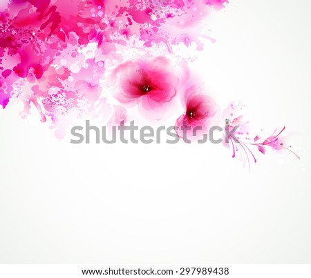 abstract art pink background