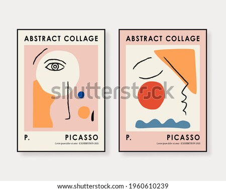 Abstract Art Set, Aesthetic Modern Art, Boho Decor, Minimalist Art, Illustattion, Vector, Poster, Postcard. Collection for decoration. Vector all isolated.