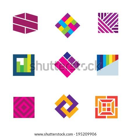 abstract art template logo
