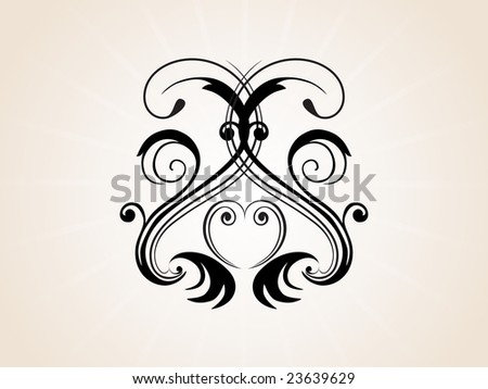 abstract artistic tattoo, vector
