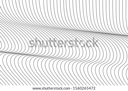 Abstract artistic wavy line background. Wavy lines stripe vector