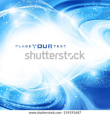 Abstract artistic winter shiny background. Vector - stock vector