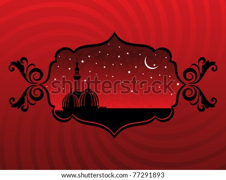 abstract artwork background with mosque