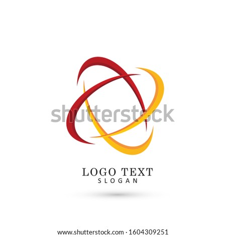 Abstract & Atomic Lines Logo. Symbol & Icon Vector Template.