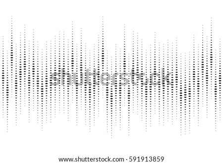 Abstract Audio Equalizer Background. Sound Wave Vector illustration.