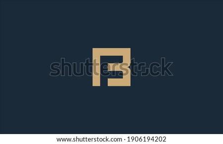 abstract B  F vector logo initials mark Stock fotó ©