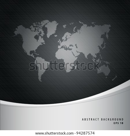 Abstract background and world map, vector illustration