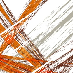 abstract background, artistic lines gray and orange, white background