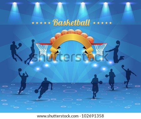 Abstract  Background  Basketball Vector Design