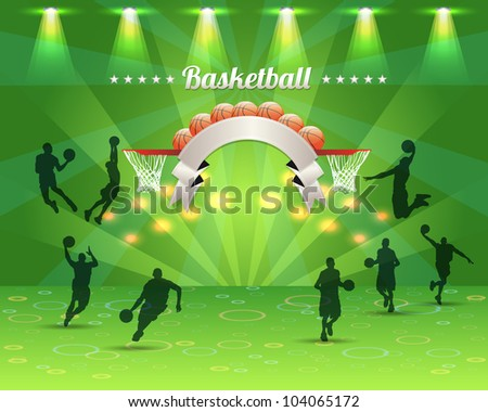 Abstract Background Basketball Vector Design