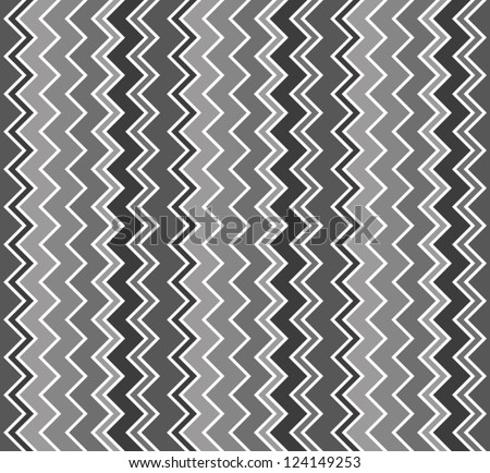 Abstract background. Black and white chevron pattern. Vertical zig zag. Vector illustration