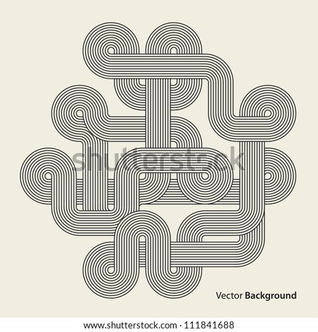 Abstract background. Black intricacy. Vector illustration