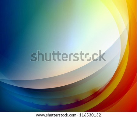 Abstract background: blue and red waves
