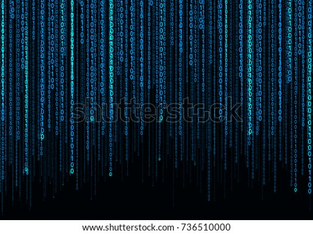 Abstract Background. Blue binary rain.