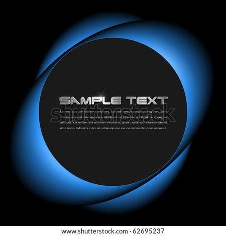 Abstract background blue glowing over black, vector.
