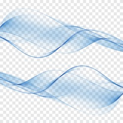 Abstract background blue waves Set of blue waves