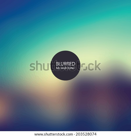 Abstract Background - Blurred Image - Sunset