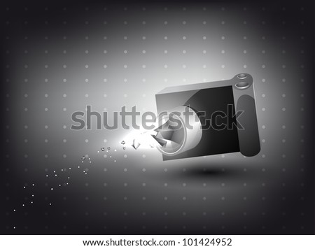 abstract background -camera in 3D with light effect