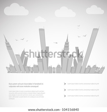 abstract background city theme