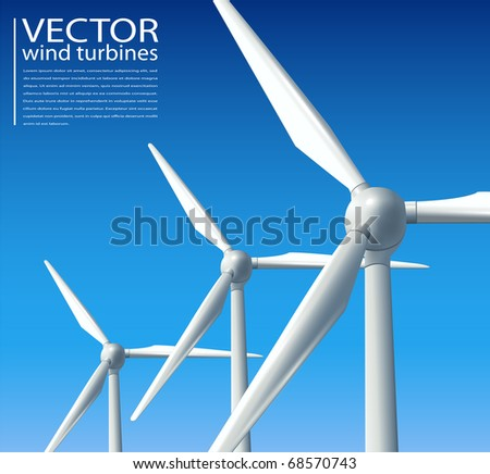 Abstract background clean energy concept, vector - stock vector