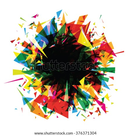 abstract background color explosion (triangles)
