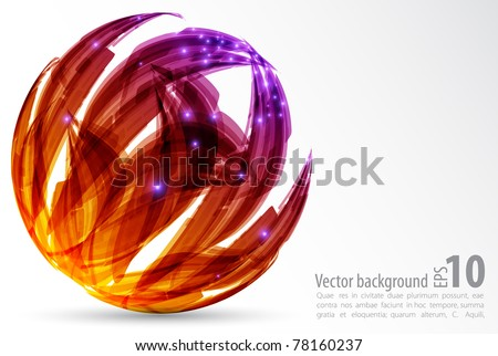 abstract background. color sphere.