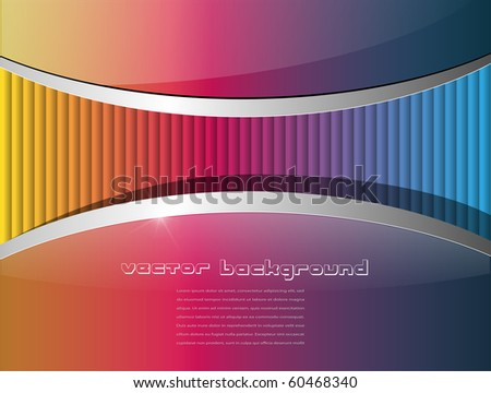 Abstract background colorful and glossy, vector.